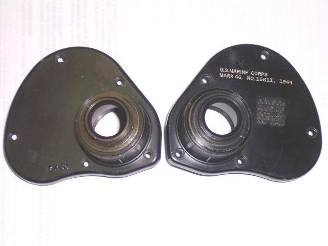 pair of wwii b l usmc mark 46 7x50 focusing prism covers